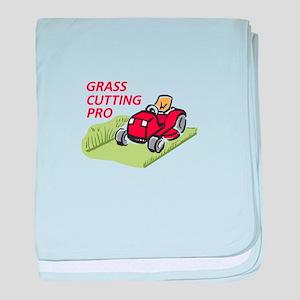 GRASS CUTTING PRO baby blanket