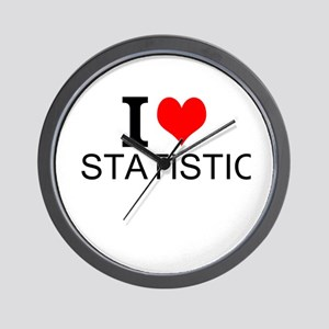 I Love Statistics Wall Clock
