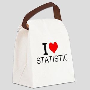 I Love Statistics Canvas Lunch Bag