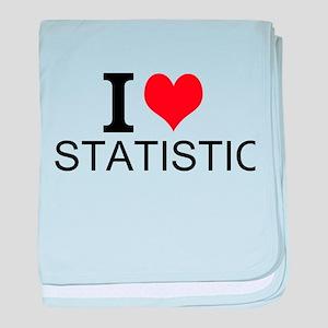 I Love Statistics baby blanket