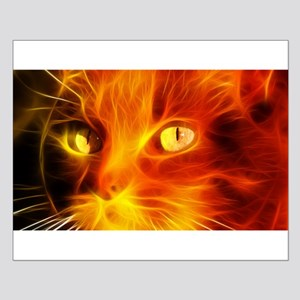Fiery Cat Small Poster