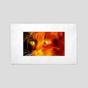 Fiery Cat Area Rug