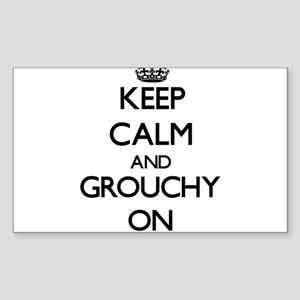 Keep Calm and Grouchy ON Sticker