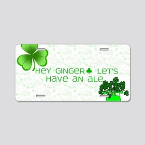 Ginger Ale Aluminum License Plate
