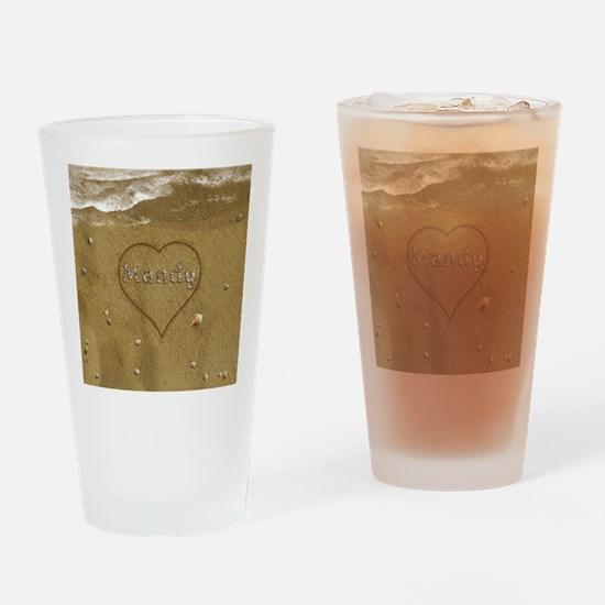 Mandy Beach Love Drinking Glass