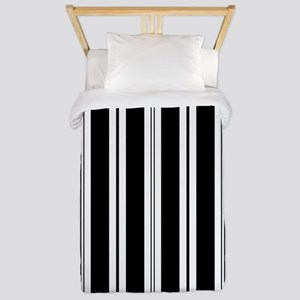 Striped Black and White Twin Duvet