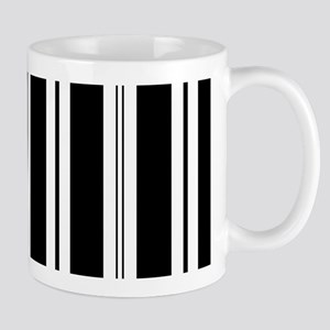 Striped Black and White Mug