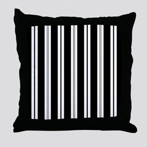 Striped Black and White Throw Pillow