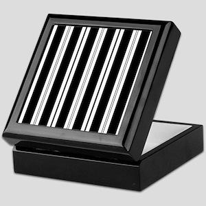 Striped Black and White Keepsake Box