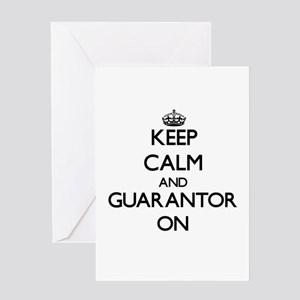 Keep Calm and Guarantor ON Greeting Cards