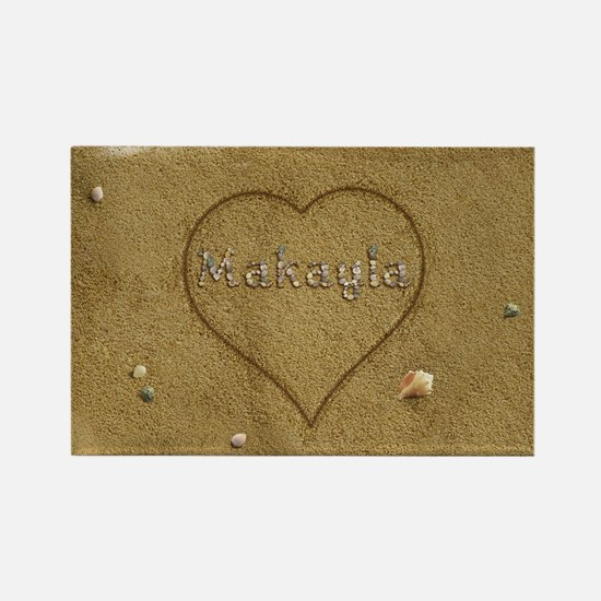 Makayla Beach Love Rectangle Magnet