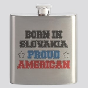 Born In Slovakia Proud American Flask