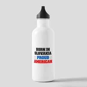 Born In Slovakia Proud American Water Bottle