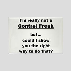 Control Freak Rectangle Magnet