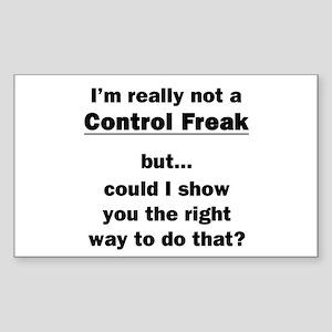 Control Freak Sticker (Rectangle)