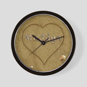 Madilyn Beach Love Wall Clock