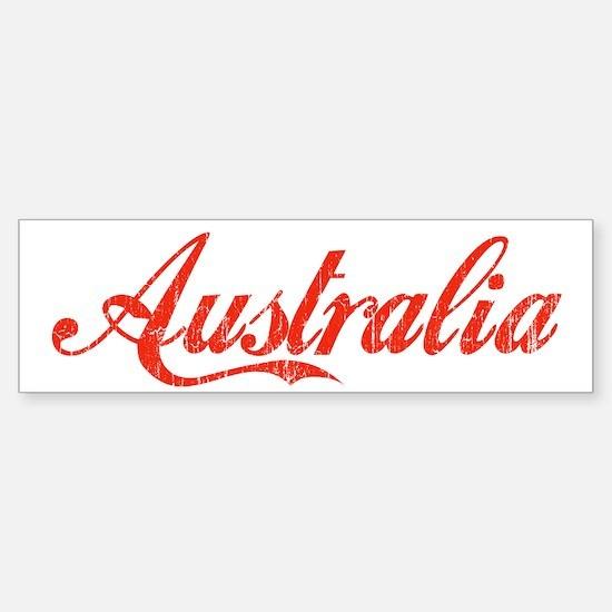 Vintage Australia Bumper Car Car Sticker
