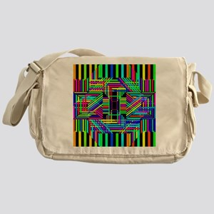 Trippy Stripes Messenger Bag