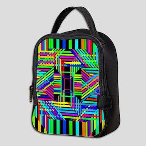 Trippy Stripes Neoprene Lunch Bag