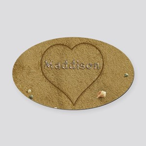 Maddison Beach Love Oval Car Magnet