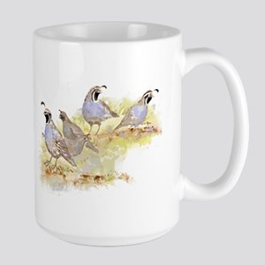 Covey of California Quail Birds Mugs