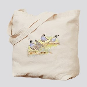 Covey of California Quail Birds Tote Bag