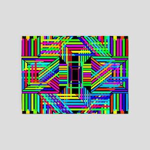 Trippy Stripes 5'x7'Area Rug