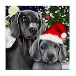WEIMARANER DOGS CHRISTMAS Tile Coaster