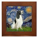 Starry - English Springer7 Framed Tile