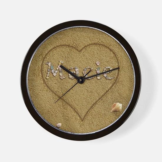 Macie Beach Love Wall Clock