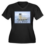 Seal Coat Women's Plus Size V-Neck Dark T-Shirt