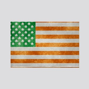 Irish American Flag Rectangle Magnet