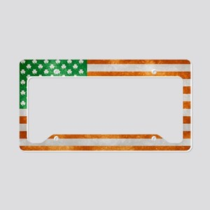 Irish American Flag License Plate Holder