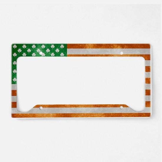 Irish American Flag License Plate Holder