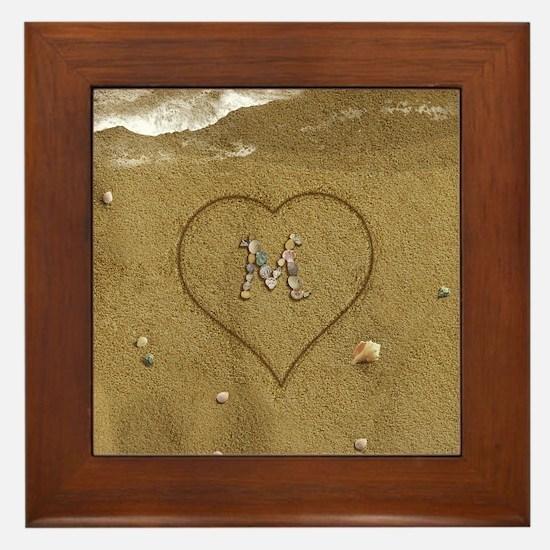 M Beach Love Framed Tile