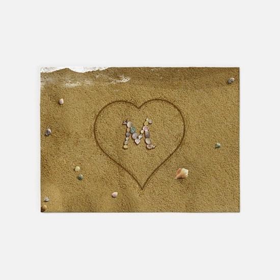 M Beach Love 5'x7'Area Rug