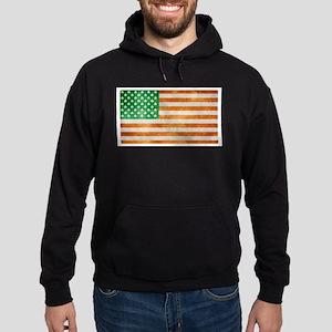 Irish American Flag Hoodie (dark)