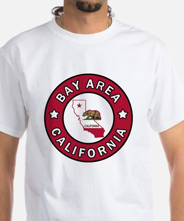 Bay Area White T-Shirt