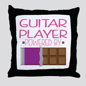Guitar Player funny Throw Pillow