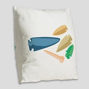 Arrowheads Burlap Throw Pillow