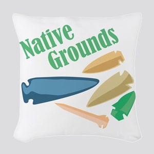 Native Grounds Woven Throw Pillow