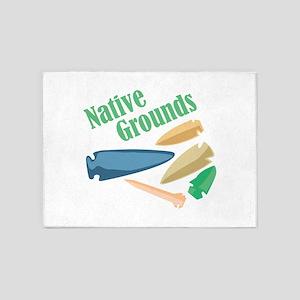 Native Grounds 5'x7'Area Rug