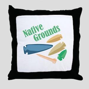 Native Grounds Throw Pillow