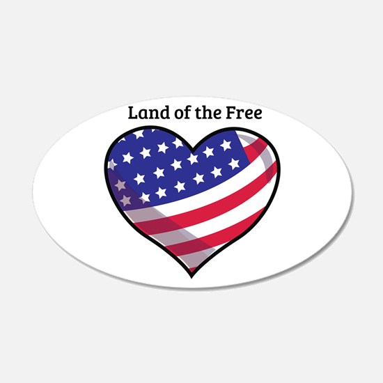 Land Of Free Wall Decal