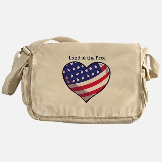 Land Of Free Messenger Bag