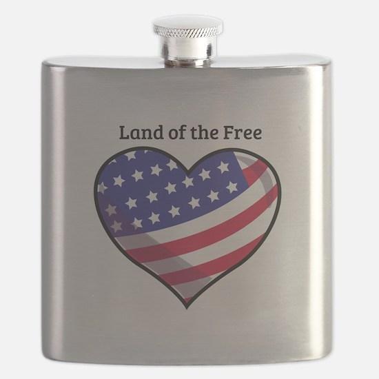 Land Of Free Flask