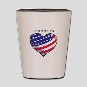 Land Of Free Shot Glass