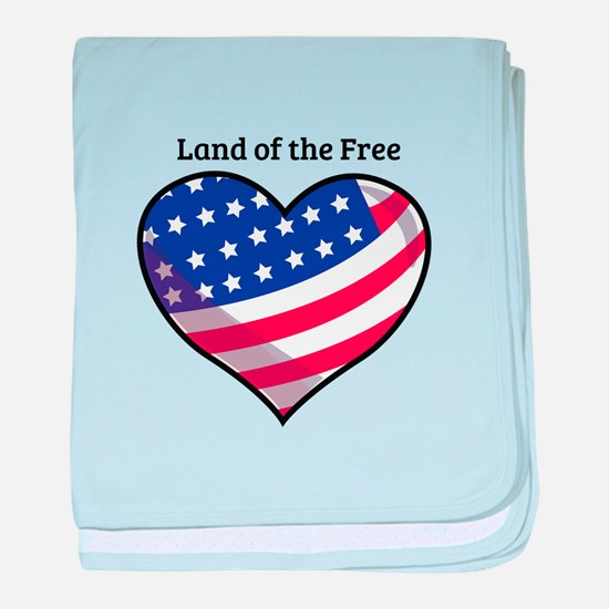 Land Of Free baby blanket