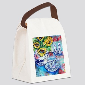 Blue Danube Suflowers Canvas Lunch Bag