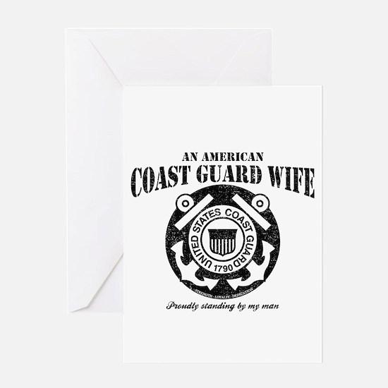 An American Coastie Wife Greeting Card